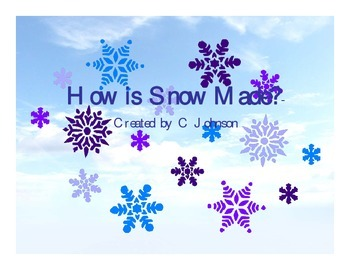 How is Snow Made? Sequencing Task