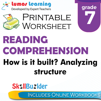 How is it built? Analyzing Structure Printable Worksheet, Grade 7