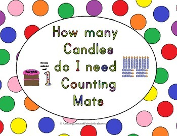 How many Candles do I Need Counting Mats