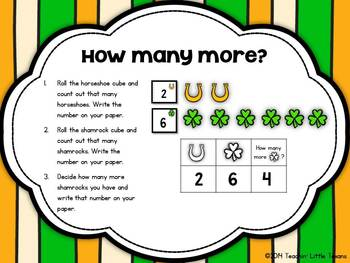 How many more? {St. Patrick's Day Math Center}