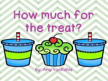 How much for the treat?  Counting Coins to $1.00 Task Cards
