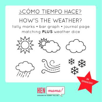 How's the Weather (SPANISH) - Tally Chart, Bar Graph, Jour