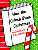 How the Grinch Stole Christmas. Dr. Seuss. Worksheets and