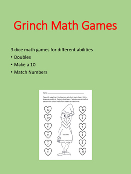 How the Grinch Stole Christmas Math Games