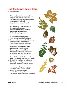 How the Leaves Came Down - Literary Text Test Prep