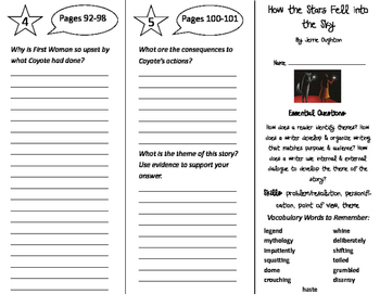 How the Stars Fell Into the Sky Trifold - ReadyGen 4th Gra