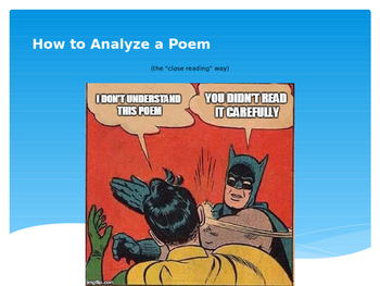 How to Analyze a Poem (The Close Reading Way) Flipchart