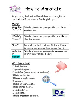 How to Annotate - Directions Handout