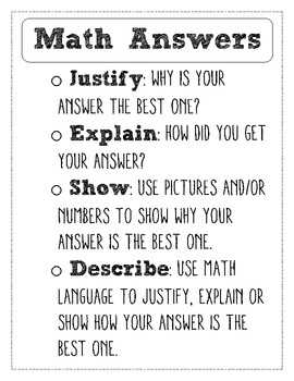 How to Answer Math Questions for Student Journal