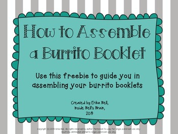How to Assemble a Burrito Booklet