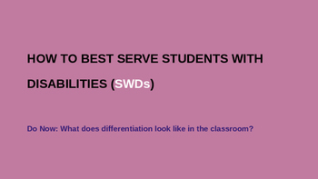 How to Best Serve Students with Disabilities