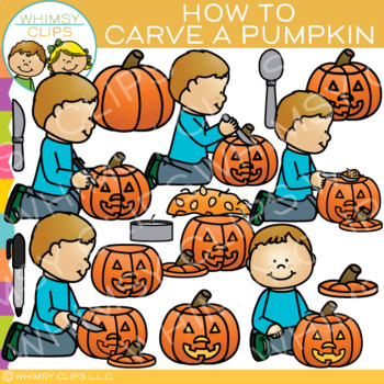 How to Carve a Pumpkin Clip Art