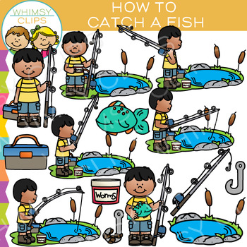 How to Catch a Fish Clip Art