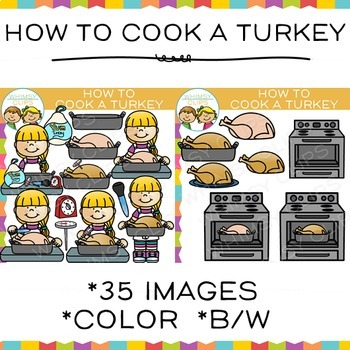 How to Cook a Turkey Clip Art