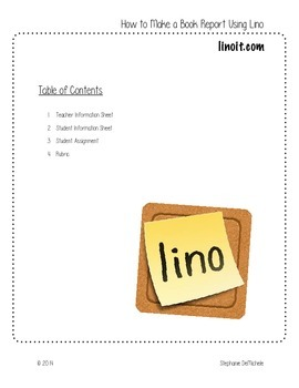 How to Create a Book Report in Lino