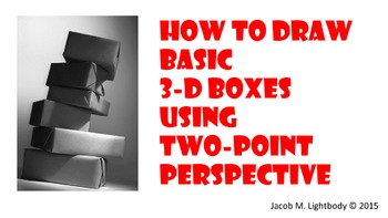 How to Draw 3D Boxes (2-Point Perspective)