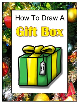 How to Draw a Christmas Gift Box