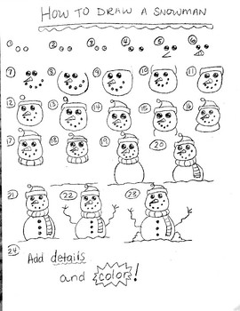 How to Draw a Snowman (Free)
