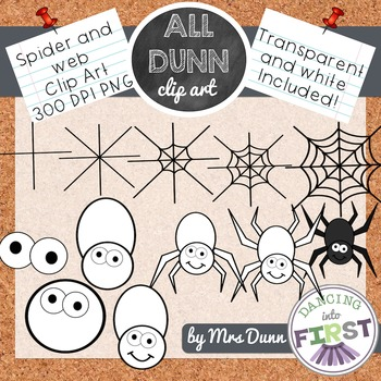 How to Draw a WEB AND SPIDER Halloween Clip Art- Directed Drawing