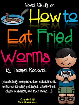 How to Eat Fried Worms {Novel Study}