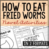 How to Eat Fried Worms Book Companion Novel Unit Study Activities