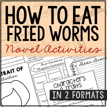 How to Eat Fried Worms Novel Unit Study Activities, Book R