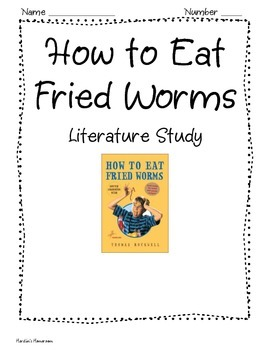 How to Eat Fried Worms Vocabulary