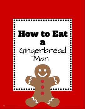 How to Eat a Gingerbread Man Writing Sensory Activity!
