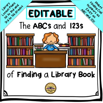 How to Find a Library Book - EDITABLE -  {Library Lesson P