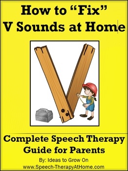 How to Teach / Correct  V Sounds at Home.  Speech Therapy