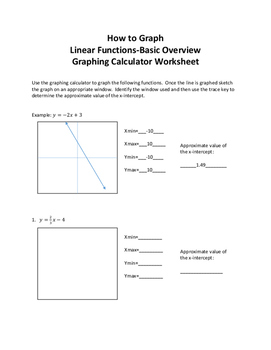 How to Graph Linear Functions Basic Overview Graphing Calc