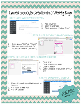 How-to-Guide: Embed any Google Creation to Teacher Webpage