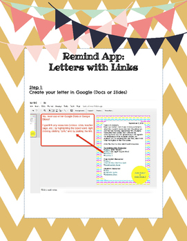 How-to-Guide: Hyperlinked Parent Letters through Remind App