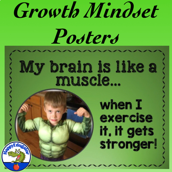 How to Have a Growth Mindset Poster Set