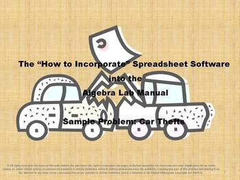 How to Incorporate Spreadsheet Software into the Algebra L