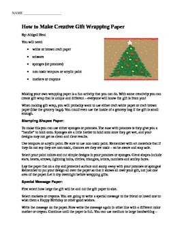 How to Make Creative Gift Wrapping Paper article-- great t