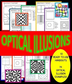 Worksheets Optical Illusion Worksheets 10 optical illusions printable worksheets by sparklegals and 14 examples