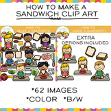 How to Make a Sandwich - Sequencing Clip Art