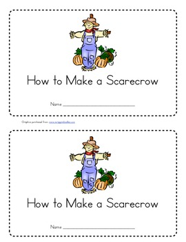 How to Make a Scarecrow Emergent Reader