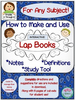 How to Make and Use Lap Books for Any Subject / Student In