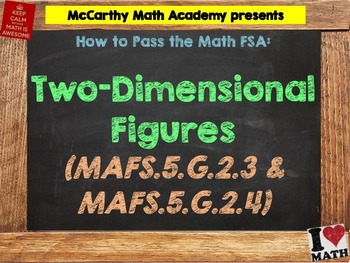 How to Pass the Math FSA - 2D Figures - MAFS.5.G.2.3 and M