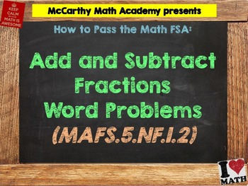 How to Pass the Math FSA - Add/Subtract Fractions WORD PRO