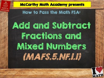 How to Pass the Math FSA - Add and Subtract Fractions - MA
