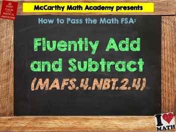 How to Pass the Math FSA - Add and Subtract - MAFS.4.NBT.2