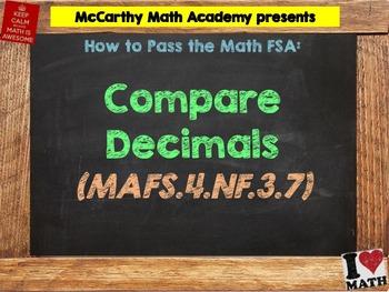 How to Pass the Math FSA - Compare Decimals - MAFS.4.NF.3.7