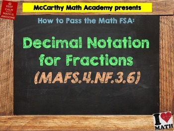 How to Pass the Math FSA - Decimal Notation for Fractions