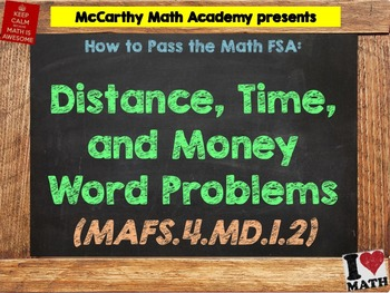 How to Pass the Math FSA - Distance, Time, and Money - MAF