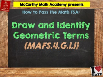 How to Pass the Math FSA - Draw and Identify Geometric Ter