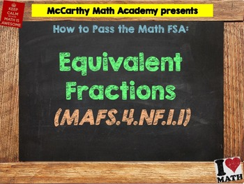How to Pass the Math FSA - Equivalent Fractions - MAFS.4.N