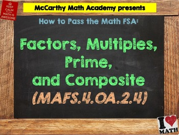 How to Pass the Math FSA - Factors, Multiples, Prime, Comp